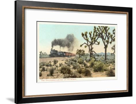 Joshua Trees, Train, California--Framed Art Print