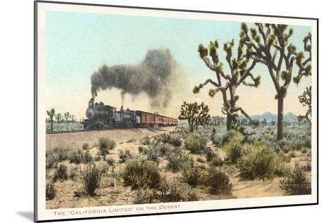 Joshua Trees, Train, California--Mounted Art Print
