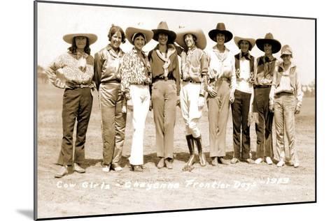 Nine Cowgirls--Mounted Art Print