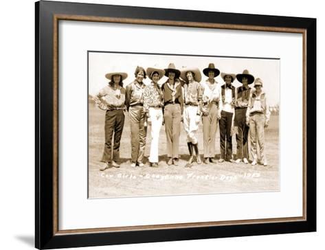 Nine Cowgirls--Framed Art Print