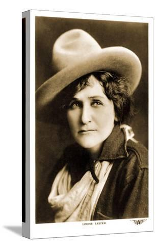 Louise Lester, Cowgirl--Stretched Canvas Print