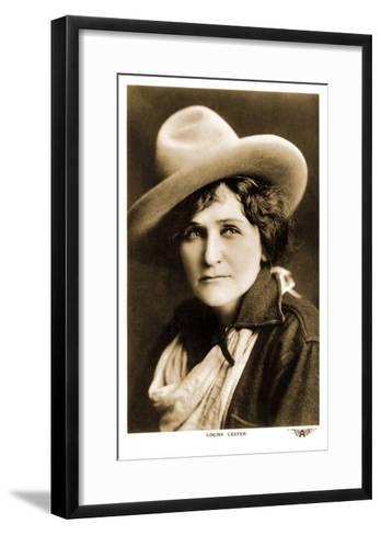 Louise Lester, Cowgirl--Framed Art Print