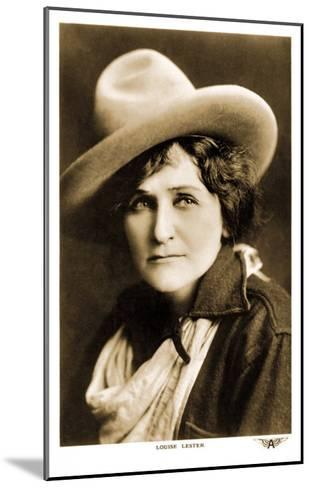 Louise Lester, Cowgirl--Mounted Art Print