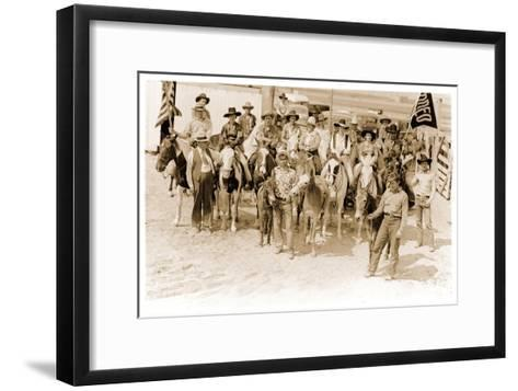 Group of Cowgirls on Horses--Framed Art Print