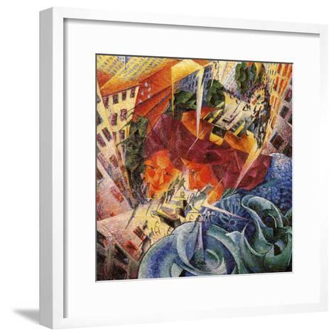 Simultaneous Visions-Umberto Boccioni-Framed Art Print