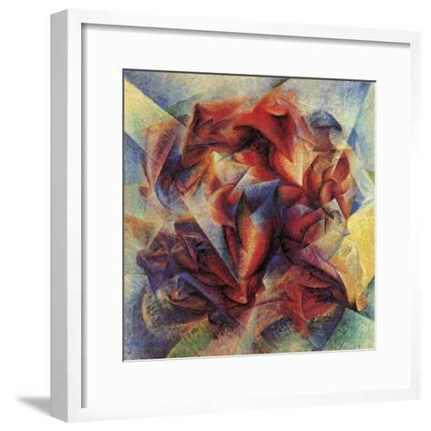 The Dynamism of a Soccer Player-Umberto Boccioni-Framed Art Print