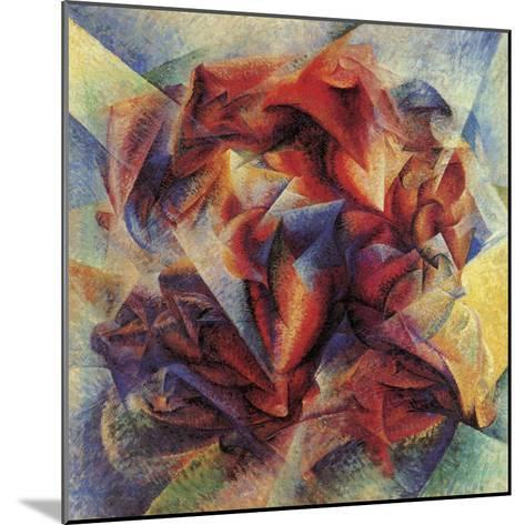 The Dynamism of a Soccer Player-Umberto Boccioni-Mounted Giclee Print