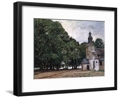La Chapelle De Notre-Dame De Grace, Honfleur-Claude Monet-Framed Art Print