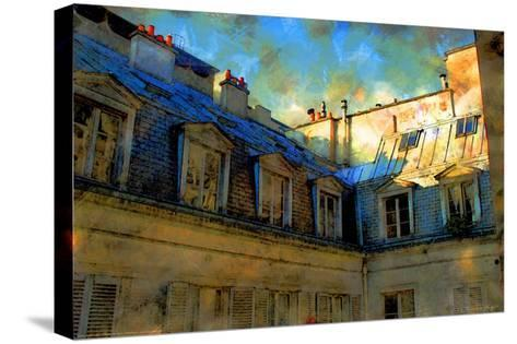 Paris Roof in Blue, France-Nicolas Hugo-Stretched Canvas Print