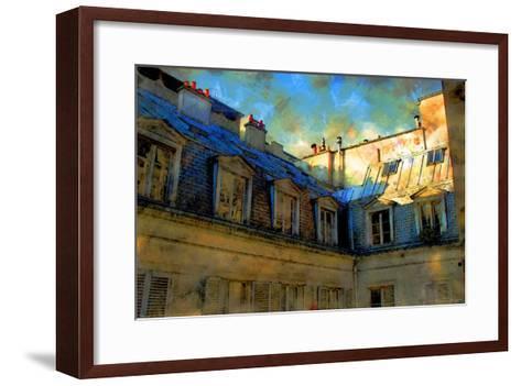 Paris Roof in Blue, France-Nicolas Hugo-Framed Art Print