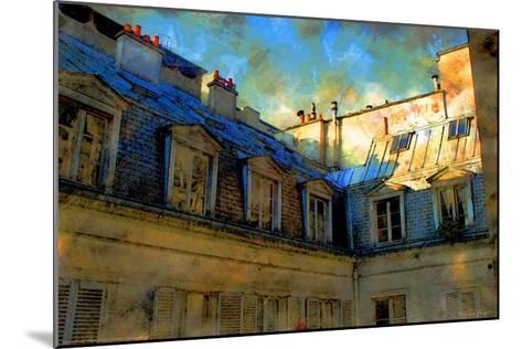 Paris Roof in Blue, France-Nicolas Hugo-Mounted Giclee Print