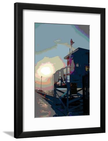Pier, Venice Beach, California-Steve Ash-Framed Art Print