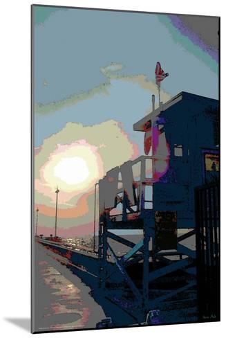Pier, Venice Beach, California-Steve Ash-Mounted Giclee Print