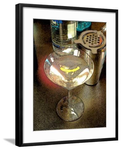 Martini with Lemon Peel-Steve Ash-Framed Art Print