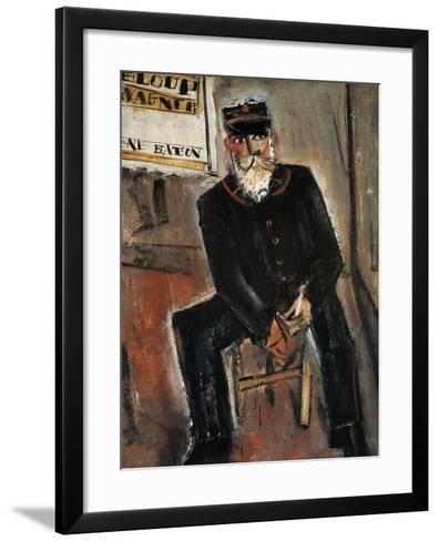 Postman, Paris-Yuzo Saeki-Framed Art Print