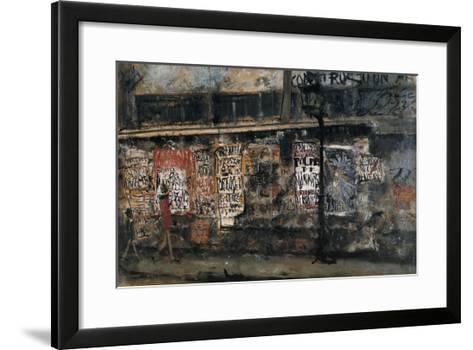 Gas Lamp and Advertisement Posters, Paris-Yuzo Saeki-Framed Art Print