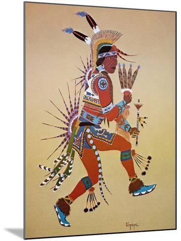Flute Player-Stephen Mopope-Mounted Giclee Print