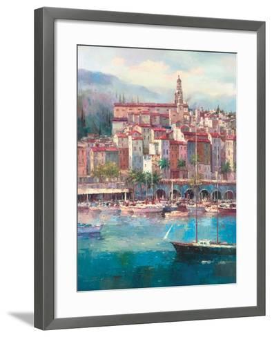 Mediterranean Harbor I-Peter Bell-Framed Art Print