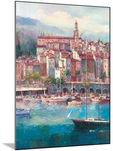 Mediterranean Harbor I-Peter Bell-Mounted Premium Giclee Print