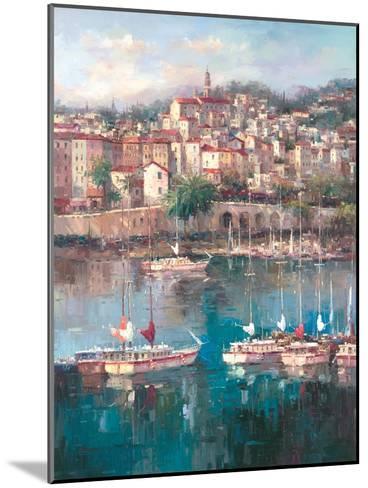Mediterranean Harbor II-Peter Bell-Mounted Art Print