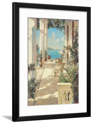 Reflections in Blue-Vitali Bondarenko-Framed Art Print