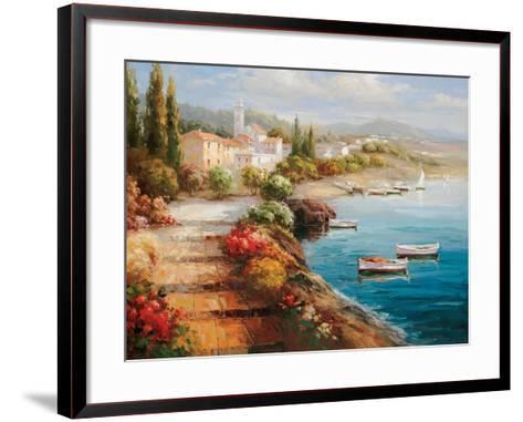 Seaside Stairsteps-Catano-Framed Art Print