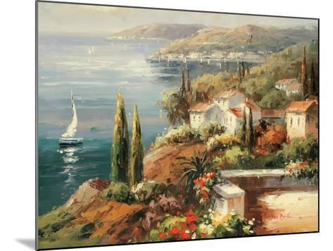 Mediterranean Vista-Peter Bell-Mounted Premium Giclee Print
