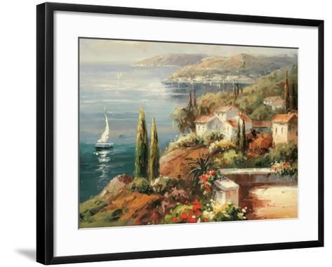 Mediterranean Vista-Peter Bell-Framed Art Print
