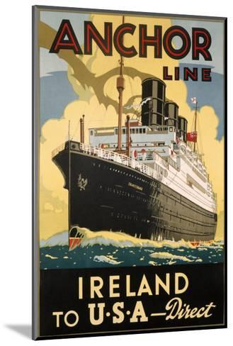 Ireland and USA--Mounted Art Print