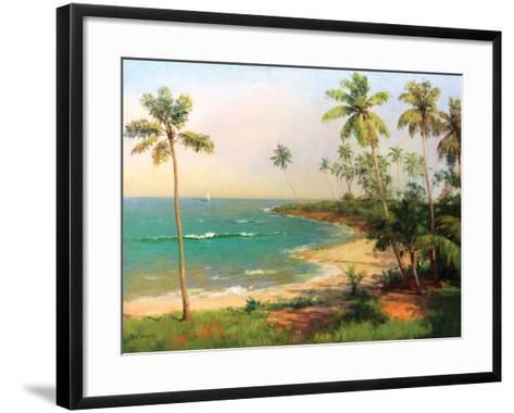 Tropical Coastline-Karen Dupr?-Framed Art Print