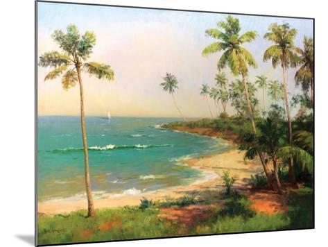 Tropical Coastline-Karen Dupr?-Mounted Premium Giclee Print