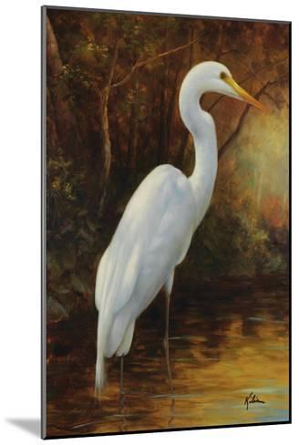 Evening Egret-Kilian-Mounted Premium Giclee Print
