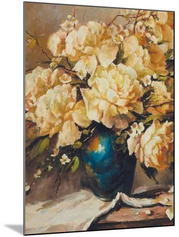 Roses in Full Bloom-Walt-Mounted Premium Giclee Print
