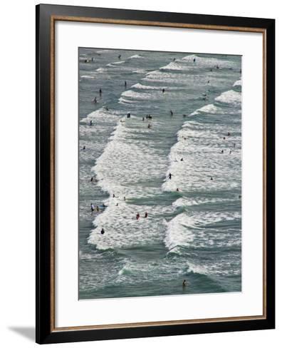 Saunton Sands, Barnstaple, North Devon, Devon, England, United Kingdom, Europe-Charles Bowman-Framed Art Print