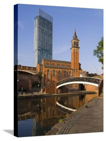 301 Deansgate, St. George's Church, Castlefield Canal, Manchester, England, United Kingdom, Europe-Charles Bowman-Stretched Canvas Print
