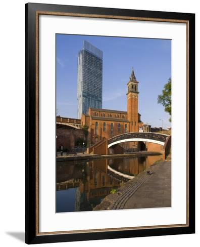 301 Deansgate, St. George's Church, Castlefield Canal, Manchester, England, United Kingdom, Europe-Charles Bowman-Framed Art Print