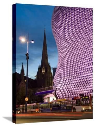 Selfridges and St. Martins Church at Dusk, Birmingham, England, United Kingdom, Europe-Charles Bowman-Stretched Canvas Print
