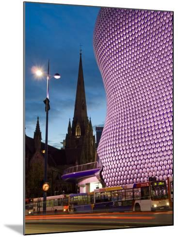 Selfridges and St. Martins Church at Dusk, Birmingham, England, United Kingdom, Europe-Charles Bowman-Mounted Photographic Print