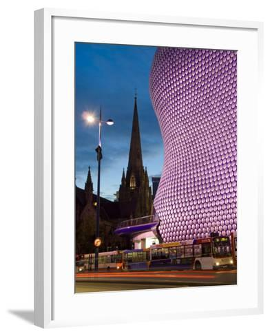 Selfridges and St. Martins Church at Dusk, Birmingham, England, United Kingdom, Europe-Charles Bowman-Framed Art Print