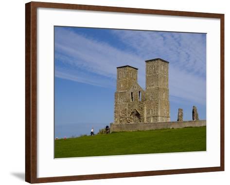 Reculver Towers, Herne Bay, Kent, England, United Kingdom, Europe-Charles Bowman-Framed Art Print