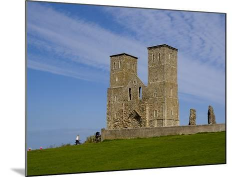 Reculver Towers, Herne Bay, Kent, England, United Kingdom, Europe-Charles Bowman-Mounted Photographic Print