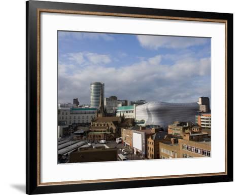 City Skyline, Including Selfridges, Birmingham, England, United Kingdom, Europe-Charles Bowman-Framed Art Print