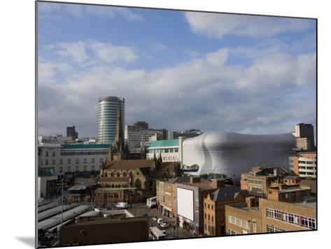 City Skyline, Including Selfridges, Birmingham, England, United Kingdom, Europe-Charles Bowman-Mounted Photographic Print