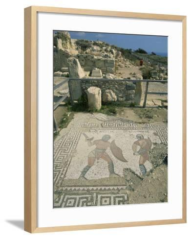 Mosaic, the House of Gladiators, Kourion, Cyprus, Europe-Jeremy Bright-Framed Art Print