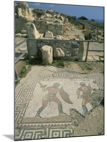 Mosaic, the House of Gladiators, Kourion, Cyprus, Europe-Jeremy Bright-Mounted Photographic Print
