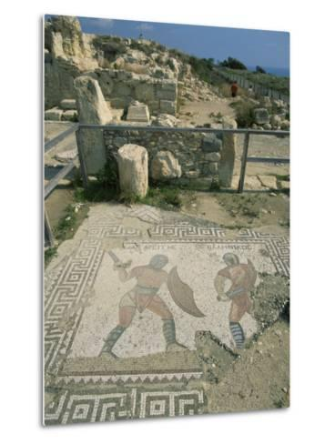 Mosaic, the House of Gladiators, Kourion, Cyprus, Europe-Jeremy Bright-Metal Print
