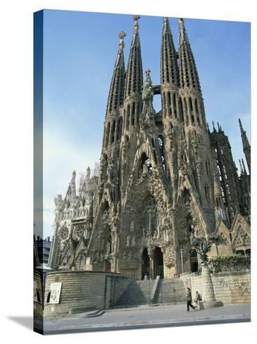 Sagrada Familia, the Gaudi Cathedral in Barcelona, Cataluna, Spain, Europe-Jeremy Bright-Stretched Canvas Print