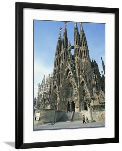 Sagrada Familia, the Gaudi Cathedral in Barcelona, Cataluna, Spain, Europe-Jeremy Bright-Framed Art Print