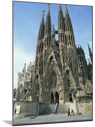Sagrada Familia, the Gaudi Cathedral in Barcelona, Cataluna, Spain, Europe-Jeremy Bright-Mounted Photographic Print
