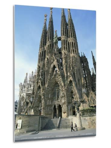 Sagrada Familia, the Gaudi Cathedral in Barcelona, Cataluna, Spain, Europe-Jeremy Bright-Metal Print